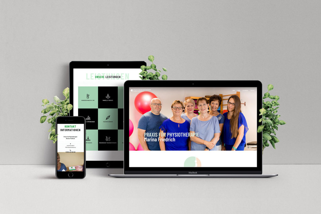 Physiotherapie-Webdesign