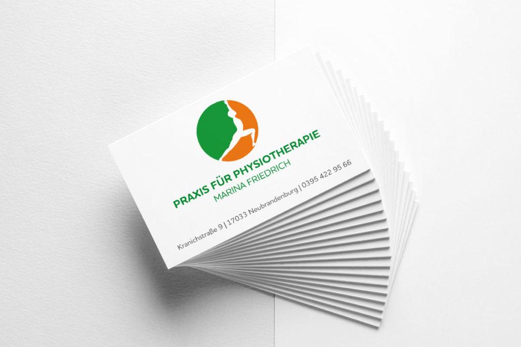 Visitenkarten Design Physiotherapie