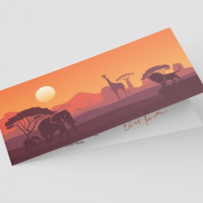 Einladungskarte Design